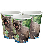 Jurassic World Cups - 256ml Paper Party Cups