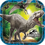 Jurassic World Square Plates - 23cm Paper Party Plates