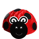 Ladybug Honeycomb Party Table Centrepiece - 30cm
