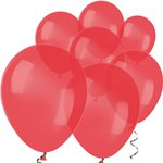 "Red Crystal Mini Balloons - 5"" Latex Balloons"