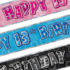 13th Birthday Banners