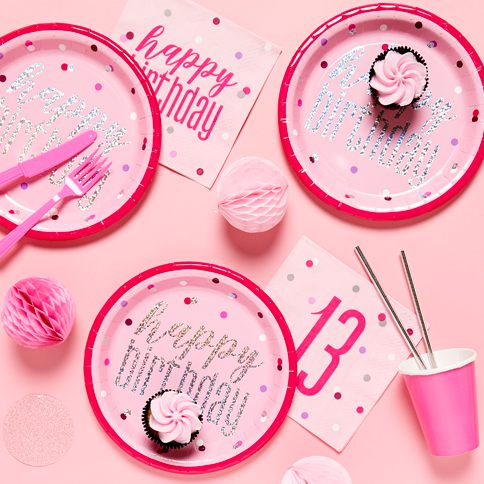 13th Pink Birthday Glitz