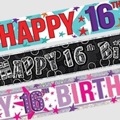 16th Birthday Banners