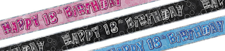 18th BirthdayBanners