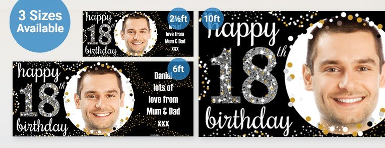 18th Birthday Personalised Banners