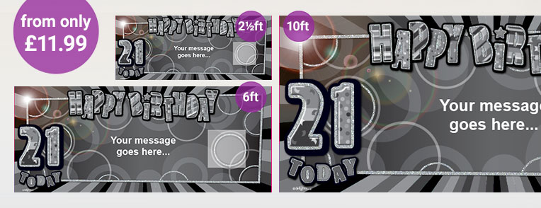 21st Birthday Personalised Banners