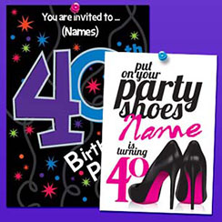 40th Birthday Invites