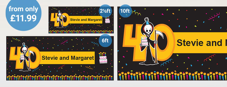 40th Birthday Personalised Banners