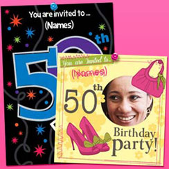 50th birthday party themes ideas party supplies party delights 50th birthday invites filmwisefo Gallery