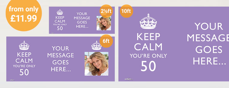 50th Birthday Personalised Banners