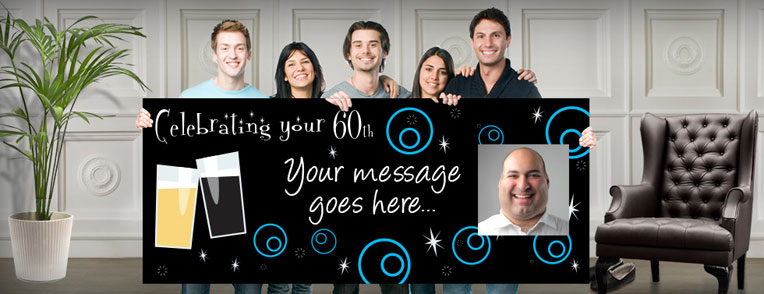 60th Personalised Banners