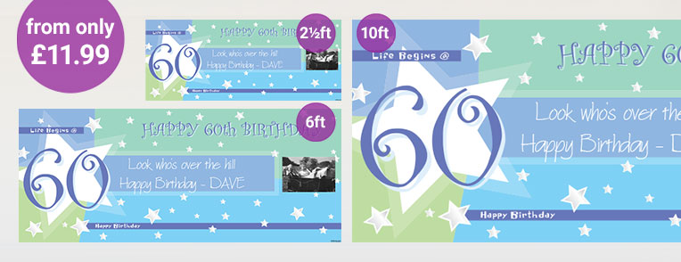 60th Birthday Personalised Banners