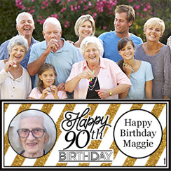 90th Birthday Banners