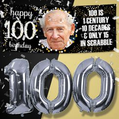 100th Birthday Banners