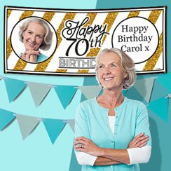 70th Birthday Banners