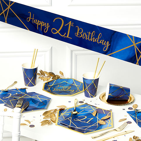 21St Birthday Decorations For Him  from images.partydelights.co.uk