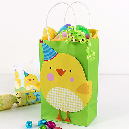 Easter gift bag printables party delights easter chick printable gift bag decoration negle Images