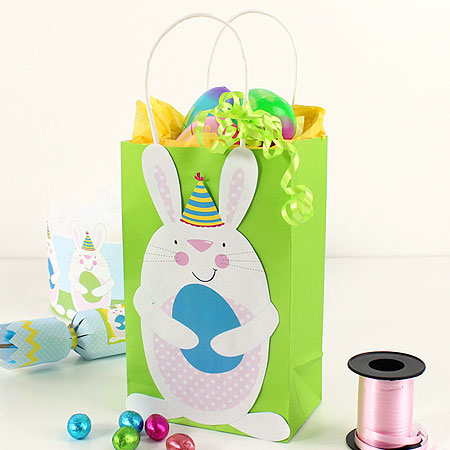 Easter gift bag printables party delights easter bunny printable gift bag decoration negle Images