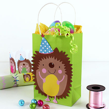 Easter gift bag printables party delights easter hedgehog printable gift bag decoration negle Image collections