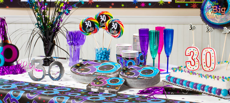 The Party Continues 30th Birthday Party Supplies Woodies Party