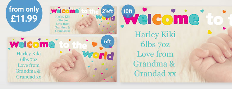 Baby Arrival Personalised Banners