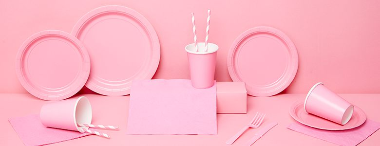 Baby Pink Party Tableware