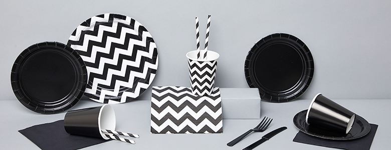 Black Party Tableware