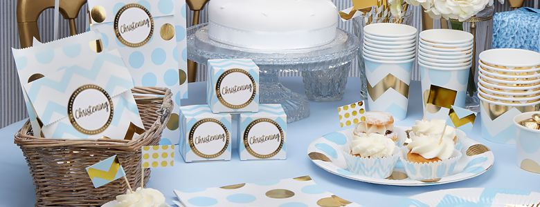 Blue Christening Party Ideas – Pattern Works