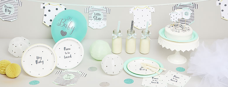 Born To Be Loved Baby Shower Supplies