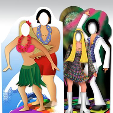 Christmas Stand In Cutouts.Cardboard Cutouts Party Delights