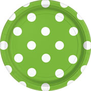 Lime Green Dots & Chevrons
