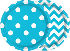 Turquoise Dots & Chevrons