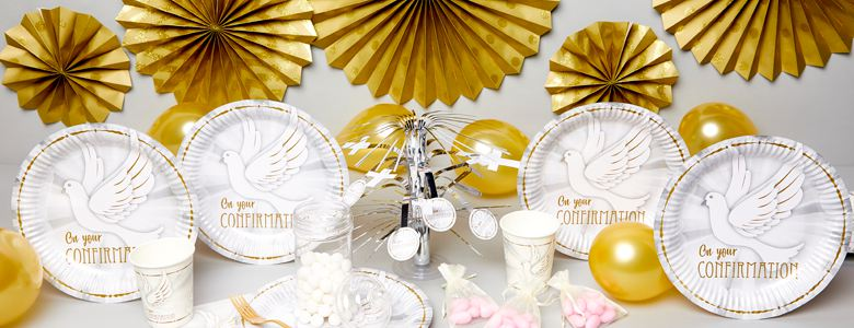 Confirmation Dove Party Tableware