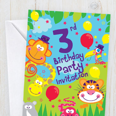 Childrens birthday invitations party delights childrens age invitations filmwisefo Image collections