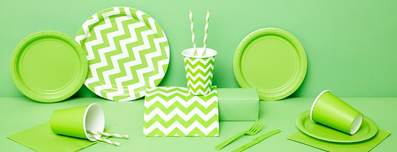 Lime Green Party Tableware