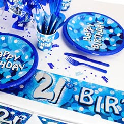 21st Birthday Blue Sparkle