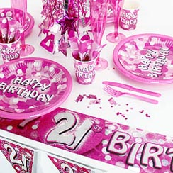 21st Birthday Pink Sparkle