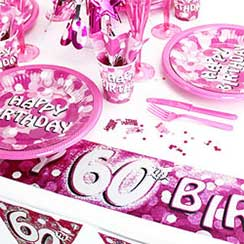 60th Birthday Pink Sparkle