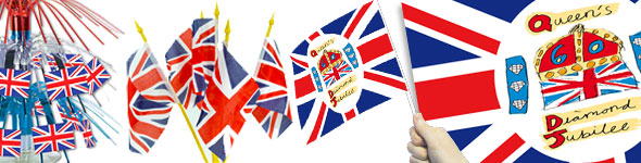 Diamond jubilee party supplies street party essentials for Decoration murale union jack