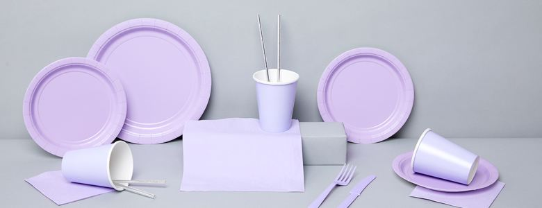 Lilac Party Tableware