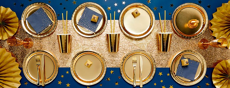 Luxe Gold Party Supplies