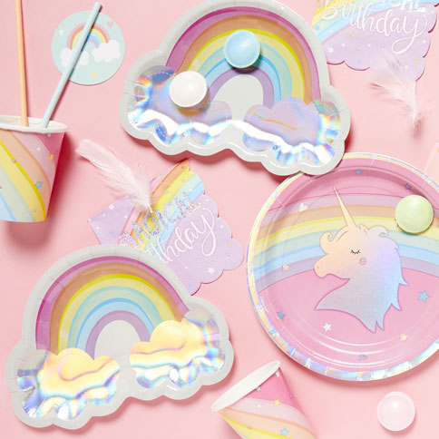 UNICORN and rainbows Party party supplies// props decorations ALL