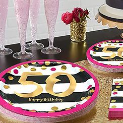 Pink & Gold 50th Birthday