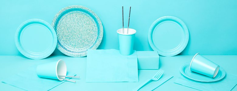 Robin's Egg Blue Party Tableware