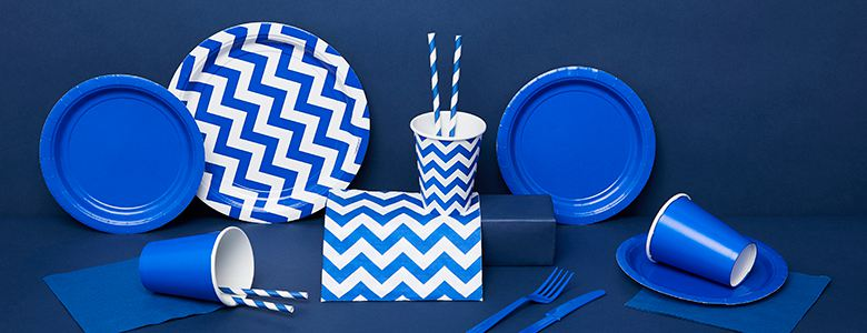 Royal Blue Party Tableware