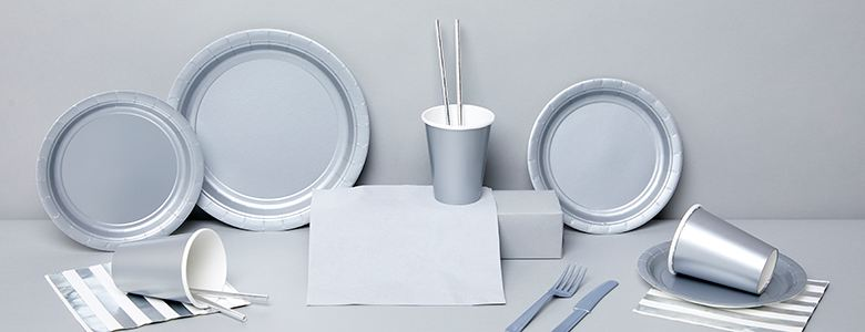 Silver Party Tableware