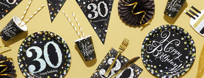 Sparkling Celebration 30th Party Supplies