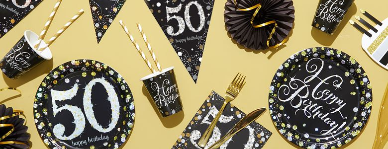 Sparkling Celebration 50th Party Supplies