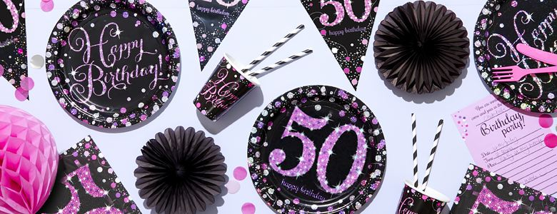 Pink Celebration 50th Party Supplies