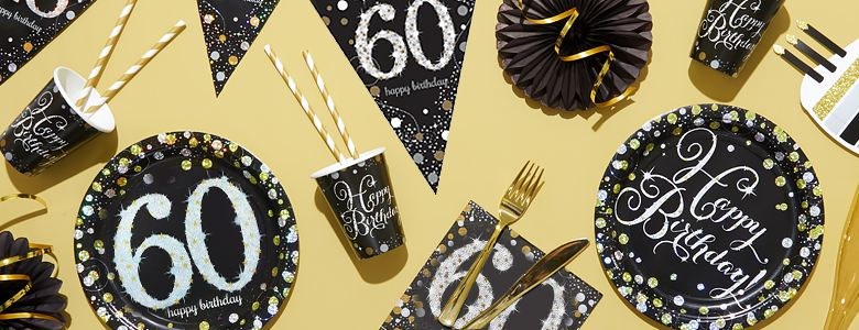 Sparkling Celebration 60th Party Supplies
